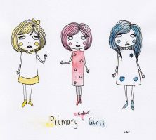 Primary Colour Girls by laitdepomme