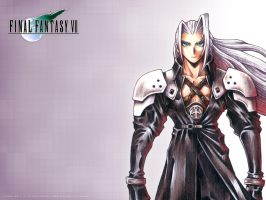 SEPHIROTH FFVII HD WALLPAPER by FFSteF09
