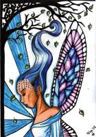 Blue faery by helgath