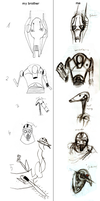 drawing wars - me vs my brother by WheatPodlaska
