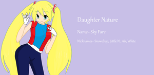 rotg oc daughter nature: Sky fare by axelfangirl956