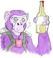 Quentin the Impossible Ape by scottygod