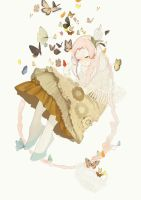 Sunset Moth by kaninnvven