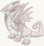 Dark water dragon drawing by LiatLNS