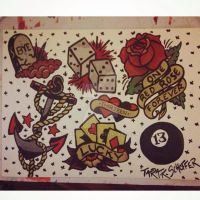 Traditional -Sailor Jerry- Style Tattoo Flash by TkWolver