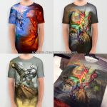 Full Color Tshirts by The-SixthLeafClover