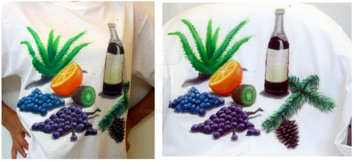 Healthy Shirt Painting by Ceruulean