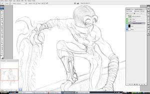 Raziel of Soul Reaver Sketch on Photoshop by Unreal-Forever