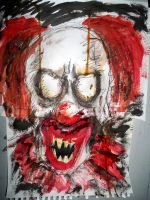 Portraits of Madness No.1- Clown by Edward-Morte