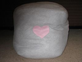 Life Size Plush Companion Cube by PaperCadence