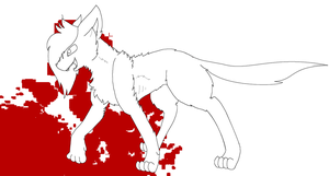 FREE Killing Spree Cat Lineart by InsaneCuteKitty