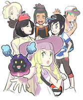 Pokemon Sun and Moon: Collab with DarkrexS by AlSanya
