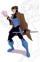 Gambit aka Remy Etienne LeBeau by Drawaholic1124