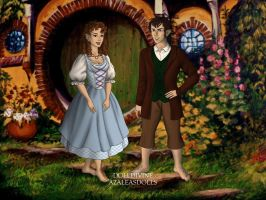 Hobbit Girl and Hobbit Boy In Love by Kailie2122