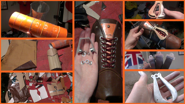 Connor Kenway Leather Vambrace, WIP steps by Pearlite