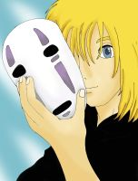 No-face's face... Howl? by Petite-angel