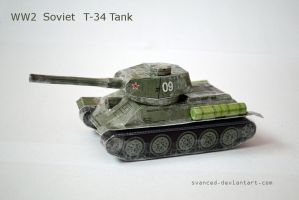 [REQ] WW2 Soviet T-34 Tank Papercraft 1 +DOWNLOAD by svanced