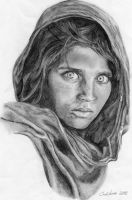 """Afghan Girl"" by N00dleIncident"