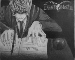 drawing of Light from death note by Jelleebear