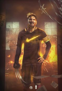 Lionel Messi as Wolverine by GraphicalManiacs