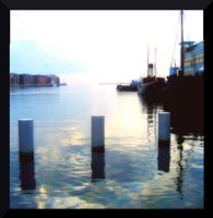 Evening Down the Harbor in Malmo by MushroomBrain