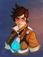 Tracer .Overwatch by sexyfairy