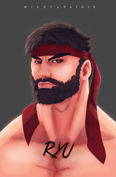 Ryu Bust Complete by RAYN3R-4rt