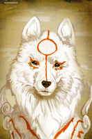 Okami close up by hinoraito