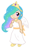 My Little Chibi Princess Celestia by CardcaptorKatara
