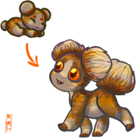 Earthy-Tan Asteroid Puppy for AlbinoWolf296 by Jesseth