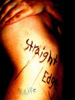 straight edge for life by rockstarchili