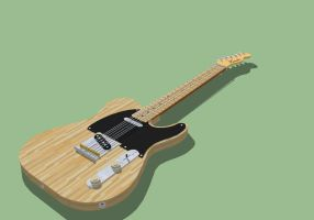 Fender Telecaster in Google SketchUp by JAROsProjects