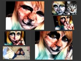 Kitty Cat Face Prosthetic by Tawkenom