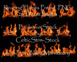 Roaring Fire Precut PNG by CelticStrm-Stock by CelticStrm-Stock