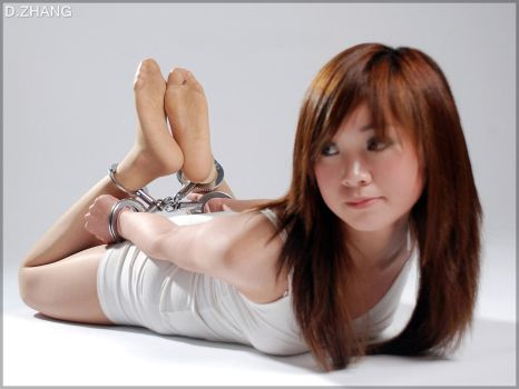 Xiaolu (02) Hogtied in cuffs by D-ZHANG-PHOTOGRAPHY