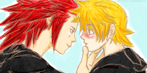 Why are you so cute, Roxas by YuukiLovesYou