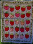 Strawberry Social - Wedding quilt by Jadan