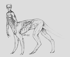 Alien/Human Centaur (Species?) by Anophior