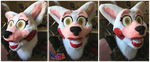 Toy Foxy Mangle Fursuit Head by TECHNlCOLOUR