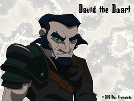 David the Dwarf - Cel by RedBladeStudios