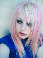 Thought Cherry Blond Pink Girl by cherrybomb-81