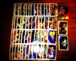 Dragon ball Z Playing cards :D by nial-09