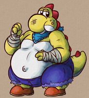 strong fat yoshi by FizTheAncient
