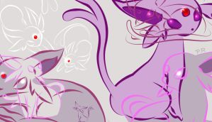 Espeon Wallpaper by PrincessRinielle