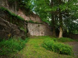 Castle Walls 1 by Dragoroth-stock