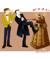The weirdest way to fight with a dalek by Alyona11