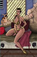 SLAVE LEIA PRINT by phymns