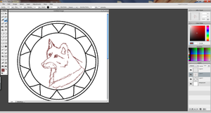 wolf dream catcher drawing (sketch) by misty-warriors
