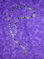 Gothic Rosary Necklace by ravenarcana