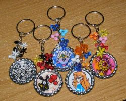 bunch of keychains by Artymesia